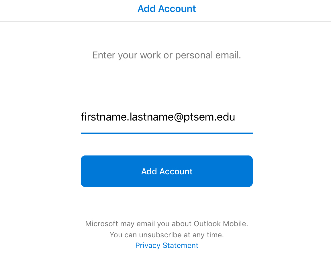 Email Setup for the Microsoft Outlook App - ITS Knowledge