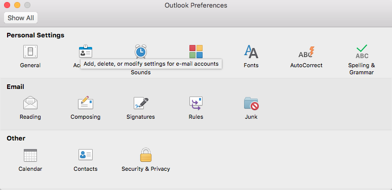Add An Initial Exchange Email Account To Outlook On Mac Its